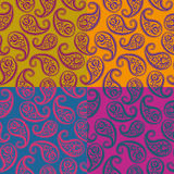 Seamless vector pattern - paisley Royalty Free Stock Photo