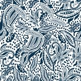 Blue and white print. vector illustration