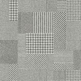 Glen Plaid pattern. Seamless vector pattern. Patchwork of Classic Glen Plaid patterns. Imitation of a fabric texture. Vector image Stock Images