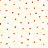 Seamless vector pattern, paws print. Cute background Royalty Free Stock Photos