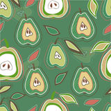 Seamless vector pattern with pears Stock Photos