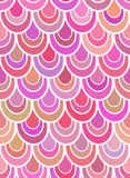 Seamless vector pattern with pink scales Royalty Free Stock Image