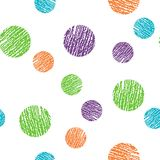Seamless vector pattern. Polka dot . Dotted background with circles, dots, rounds Stock Images