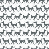 Seamless Vector Pattern with Pretty Walking Italian Greyhounds Stock Photos