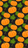 Seamless vector pattern with pumpkins Stock Images