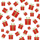Seamless vector pattern with red gift boxes Stock Photo