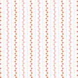 Seamless vector pattern. Red pink vertical lines and twigs on white background. Hand drawn illustration. Seamless vector pattern. Vertical lines and twigs on Stock Photo