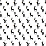 Seamless vector pattern with rein deers. Royalty Free Stock Photos