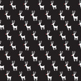 Seamless vector pattern with rein deers. Stock Photo