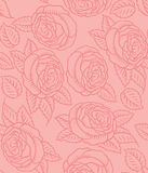 Seamless vector pattern retro roses Stock Image