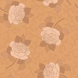 Seamless vector pattern with roses Royalty Free Stock Photo