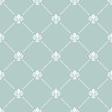 Seamless Vector Pattern With Royal Lily Stock Images