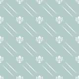 Seamless Vector Pattern With Royal Lily Stock Image