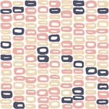 Seamless vector pattern of 60s in beige colours. For wrapping, craft, textile Stock Image