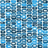 Seamless vector pattern of 60s in blue colours. For wrapping, craft, textile Royalty Free Stock Photography