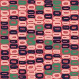 Seamless vector pattern of 60s blue, green and pink. For textile, wrapping, craft Stock Photo