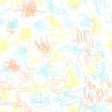 Seamless vector pattern. Scrapbooking, background, wrapping pape. R. Chaotic scribbles Kids drawn royalty free illustration