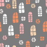 Seamless vector pattern. Scrapbooking, background, wrapping pape. R. Different windows Pastel colors royalty free illustration
