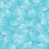 Seamless vector pattern with seashells Stock Photography