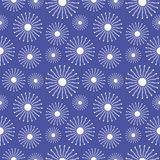 Seamless vector pattern. Seasonal winter  blue background with close-up snowflakes Stock Photos