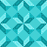 Seamless vector pattern, shades of turquoise aquamarine, square mosaic Stock Photography