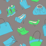 Bags and shoes Stock Photography