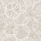 Seamless vector pattern of silhouettes of gears Royalty Free Stock Photos