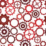 Seamless vector pattern of silhouettes of gears royalty free illustration