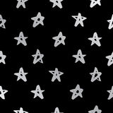 Seamless vector pattern of silver stars Royalty Free Stock Images