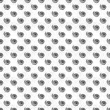 Seamless vector pattern. Simple black and white background with hand drawn spiral. Royalty Free Stock Photography