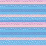 Seamless vector pattern with simple textured pink and blue stripes stock illustration