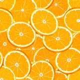 Seamless vector pattern of sliced juicy ripe oranges Stock Images