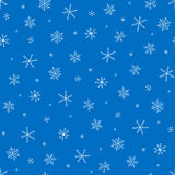Seamless vector pattern with snowflakes Stock Photo
