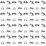Seamless vector pattern. Sports competition and Stock Images