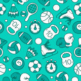 Seamless vector pattern of sports icons Royalty Free Stock Photo