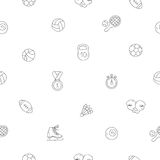 Seamless vector pattern of sports icons Stock Photo