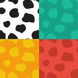 Seamless vector pattern with spotted cow texture Stock Images