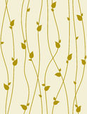 Seamless vector pattern with spring branches. Seamless foliage pattern with spring branches. Vector illustration Royalty Free Stock Photo