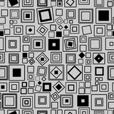 Seamless vector pattern. Squares. Black and white Background texture Royalty Free Stock Images