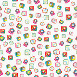 Seamless vector pattern with squares with rounded  Stock Photography