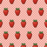 Seamless vector pattern with strawberries and hearts. Seamless  pattern with strawberries and hearts. Vector background Royalty Free Stock Photo