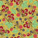 Seamless vector pattern with strawberry, berry Royalty Free Stock Images