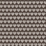 Seamless vector pattern of striped hearts Stock Images