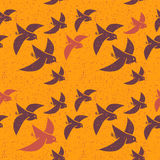 Seamless vector pattern of stylized birds Royalty Free Stock Photo