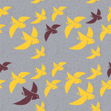 Seamless vector pattern of stylized birds Royalty Free Stock Image