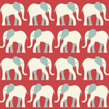 Elephant pattern. Seamless vector pattern with a stylized elephant figure Royalty Free Stock Photography