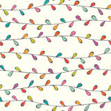Seamless vector pattern with stylized leaves Stock Images