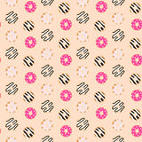 Seamless vector pattern sweet glazed donuts. Royalty Free Stock Photography