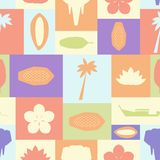 Seamless vector pattern with symbols of Thailand Stock Images