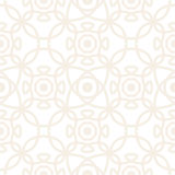 Seamless vector pattern with symmetric ornament. Abstract subtle geometric rounded lines background in pastel color. Royalty Free Stock Photography